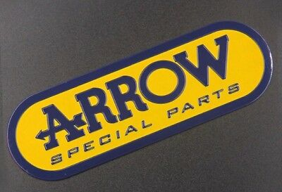 Arrow Special Exhausts 3D Exhaust Heat Proof Resistant Aluminium Sticker Decal • 3.29£