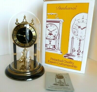 £35.39 • Buy Vintage Dunhaven Quartz West Germany Table Mantle Glass Dome Clock. Works!