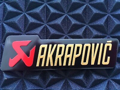 AKRAPOVIC 3D Exhaust Heat Proof Resistant Aluminium Sticker Decal Motorcycle • 3.40£