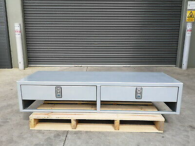 AU990 • Buy 1500mm Long Aluminium Dual Drawer Ute Canopy Drawer Module Toolbox 110mm Space