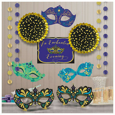 £12.55 • Buy NIGHT IN DISGUISE STRING HANGING Party Decorations Masquerade Masks Wall Ball