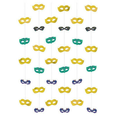 £6.54 • Buy NIGHT IN DISGUISE STRING HANGING Party Decorations Masquerade Masks Wall Ball