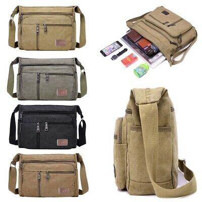 AU13.90 • Buy Mens Cross Body Messenger Shoulder Bag Travel Pouch Handbag Wallet