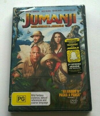 AU9 • Buy BRAND NEW SEALED JUMANJI WELCOME TO THE JUNGLE  Region 4  AUSSIE EDITION