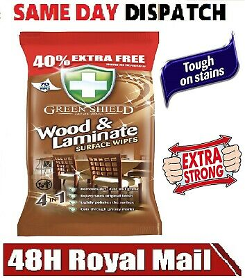 WOOD FLOOR Surface Cleaning Wipes 70 Large Extra Strong Use On Laminate Original • 5.49£