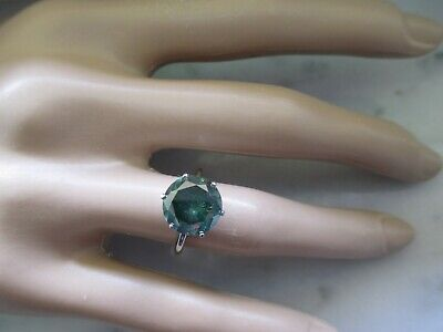 AU3497.25 • Buy 14K White Gold 4Ct Green Natural Diamond Engagement Ring G.I.A