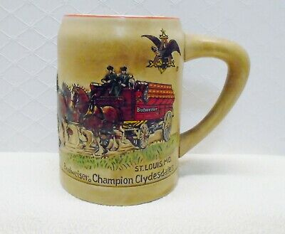 $ CDN73.16 • Buy Anheuser Busch Clydesdales CS19 1980 Holiday Stein Budweiser RED Cases