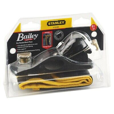 Stanley Bailey STA512020 No9 1/2 Fully Adjustable Block Plane With Storage Pouch • 37.95£