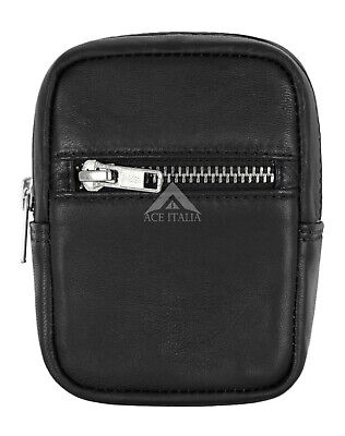 Genuine Leather Cigarette Case With RFID Blocking Card Pocket Belt Loop Pouch • 4.49£