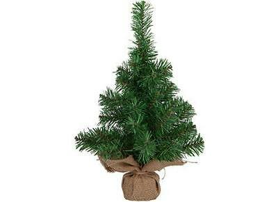 Mini Christmas Tree With Hessian Base 45CM Table Top Centrepiece • 9.99£