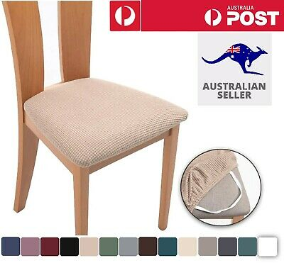 AU39.95 • Buy 2-8PCS Dining Chair Covers Kitchen Home Seat Cover Stretch Removable Slipcover