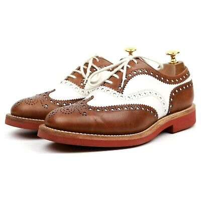 Church's 'Downton 2' Brown White Leather Two Tone Spectator Brogues UK 6 G • 150£