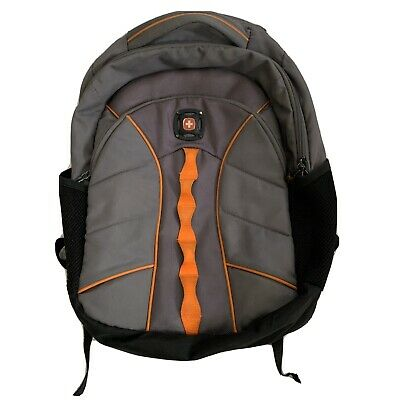 Swiss Gear The Sun Large Gray Orange Black Backpack Bag Padded Computer Pocket  • 10.73£