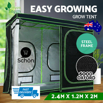 AU235.89 • Buy Greenfingers Grow Tent Kits 2.4m X 1.2m X 2m Hydroponics Indoor Grow System