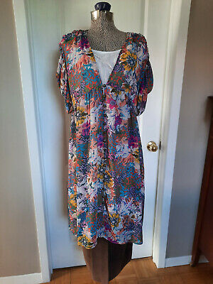 $ CDN45 • Buy ANTHROPOLOGIE Womens SZ XS Draped Sleeve Style Light Polyester Dress Nice - NWT