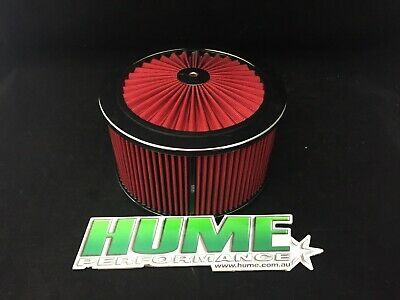 AU135 • Buy Hi Flow 9  X 5  Air Cleaner Filter Assembly Holley 4150 Chrome Red 45932