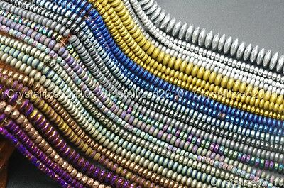 $ CDN3.09 • Buy Hematite Gemstone Rondelle Spacer Beads 2mm 3mm 4mm 6mm 8mm Smooth Faceted 16