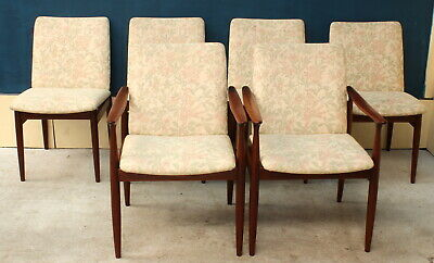 AU3740 • Buy Free Delivery-retro Vintage Mid Century Parker Dining Chairs Set 6