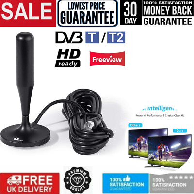Digital TV Aerial Freeview Antenna Magnetic For Campervan Tent Camping Plug Play • 12.99£