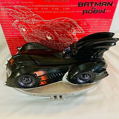 Vintage DC Comics Batman & Robin BatMobile Cookie Jar Canister 1997 WB Studio • 103.44£
