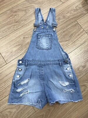 Girls Dungarees Shorts Age 12–13 Years Blue Denim Candy Couture C388 • 9.99£
