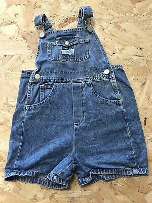 Girls Dungarees Shorts Age 4 To 5 Carters Blue Denim B1064 • 7.99£