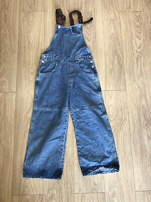 Girls Dungarees Age 12-13 Years Blue Denim D2491 • 11.99£