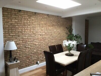 Smoked Peach Brick Slips, Wall Cladding, Feature Wall, Brick Tiles SAMPLE • 0.99£