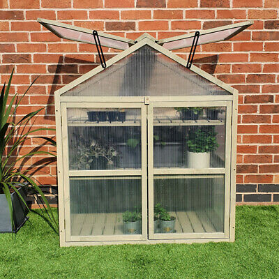 Cold Frame Planter Greenhouse Polytunnel Grow Shed Plant Cover Coldframe • 49.99£