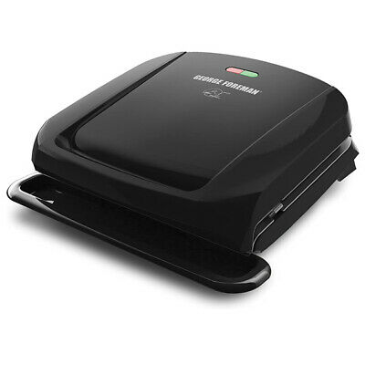 George Foreman 4-Serving Removable Plate Grill And Panini Press Black • 25.74£