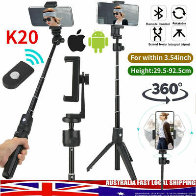 AU21.89 • Buy Extendable Selfie Stick Handheld Tripod Bluetooth 2 In 1 For Android IOS Phone #