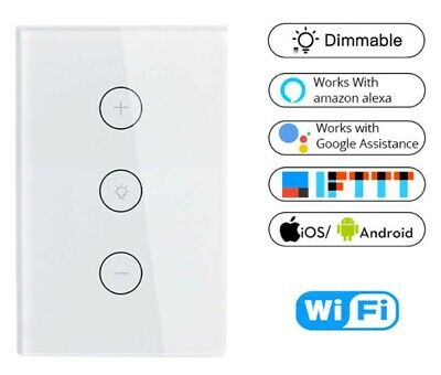 AU28 • Buy Smart WIFI Light Dimmer Switch Remote For Google Alexa IFTTT Voice Control Life