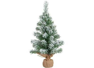 60cm Table Top Snow Tipped Christmas Tree In Hessian Base • 13.99£