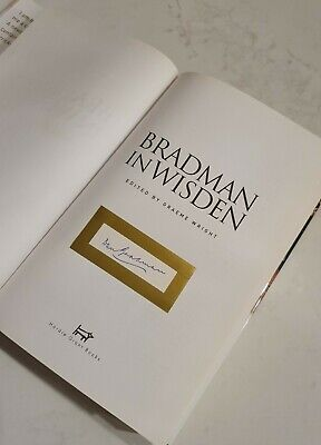 AU250 • Buy Very Rare Sir Donald Bradman Cricket Signed In Person Bradman In Wisden Don Book