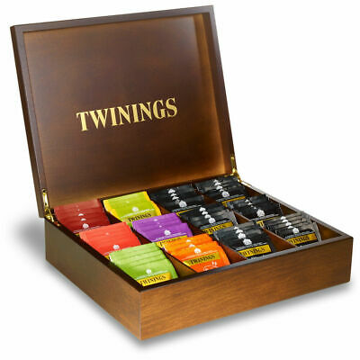 Twinings Wooden Tea Bags Compartment Box - Display Tea Chest For Hotels Etc • 40.99£