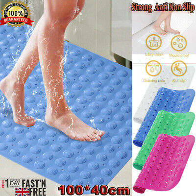 Extra Large Anti Non Slip Bath Shower Mat PVC Bathroom Mat Rubber Strong Suction • 6.89£