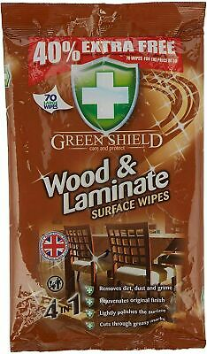 Wood And Laminate Floor Surface Cleaning Wipes 70 Large Extra Strong CLEAN SHINE • 5.45£