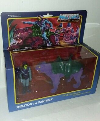 $38 • Buy Super7 Masters Of The Universe Skeletor And Panthor ReAction Figure New Sealed