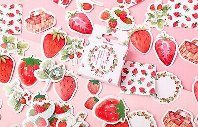 £3.09 • Buy STRAWBERRY STICKERS Fruit Food Scrapbook Journal Diary Card Craft Decoration