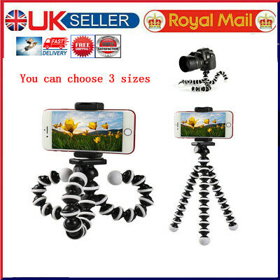Universal Mobile Phone Holder Stand For Iphone Camera Flexible Octopus Tripod St • 8.49£
