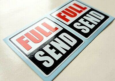 2x Full Send Rock Shox Style Stickers Graphics Decals For Bike MTB BMX Cycling  • 3.59£