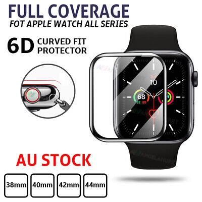 AU6.94 • Buy Apple Watch Series 4 3 2 1 Full Screen Protector 38 40 42 44 Mm Tempered Glass