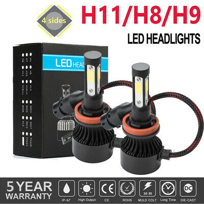 AU15.99 • Buy H11 H9 H8 LED Headlight Kit Low Beam Bulbs 72W 6000K White Replace Halogen Lamp