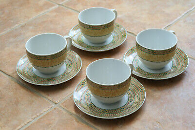 4 Wedgwood Home Florence Porcelain Cups & Saucers VGC • 18£