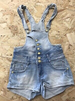 Girls Dungarees Shorts Age 10 To 11 Years Simply Chic Blue Denim B1195 • 7.99£
