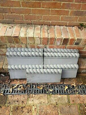 ROPE TOP GARDEN EDGING / 18  BY 2  THICK / 8  W/ SLATE GREY/ Sold Individually • 7£