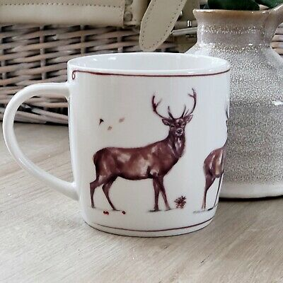 Highland Stag Fine China Tea Coffee Mug Gift Boxed Cup Kitchen Home Decoration • 7.95£