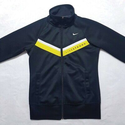 Nike Livestrong Track Top/Jacket | Small | Black/Yellow • 30£