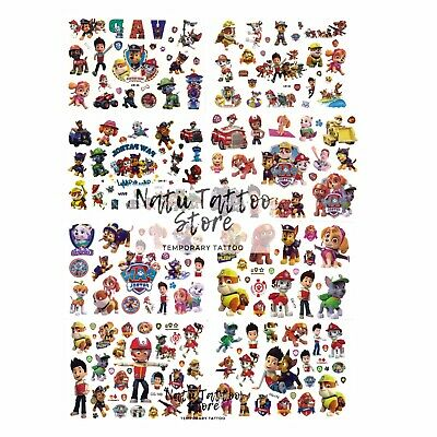 £1.79 • Buy Paw Patrol Temporary Tattoo Sheets Stickers Children Kids Birthday Party Bag