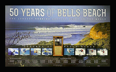 AU229 • Buy Tom Carroll Hand Signed Bells Beach 50 Years Le Surfing Print Framed With Coa